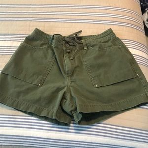 Olive green shorts size 10